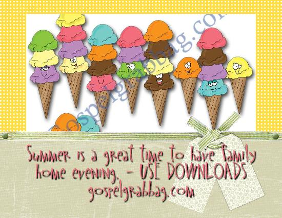 Family Home Evening - Summer Time download activities, fhe lessons, gospelgrabbag.com
