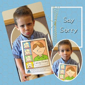 "Say Sorry: craft activity, ""Behold Your Little Ones"" Lesson 16, Say Sorry, gospelgrabbag.com"