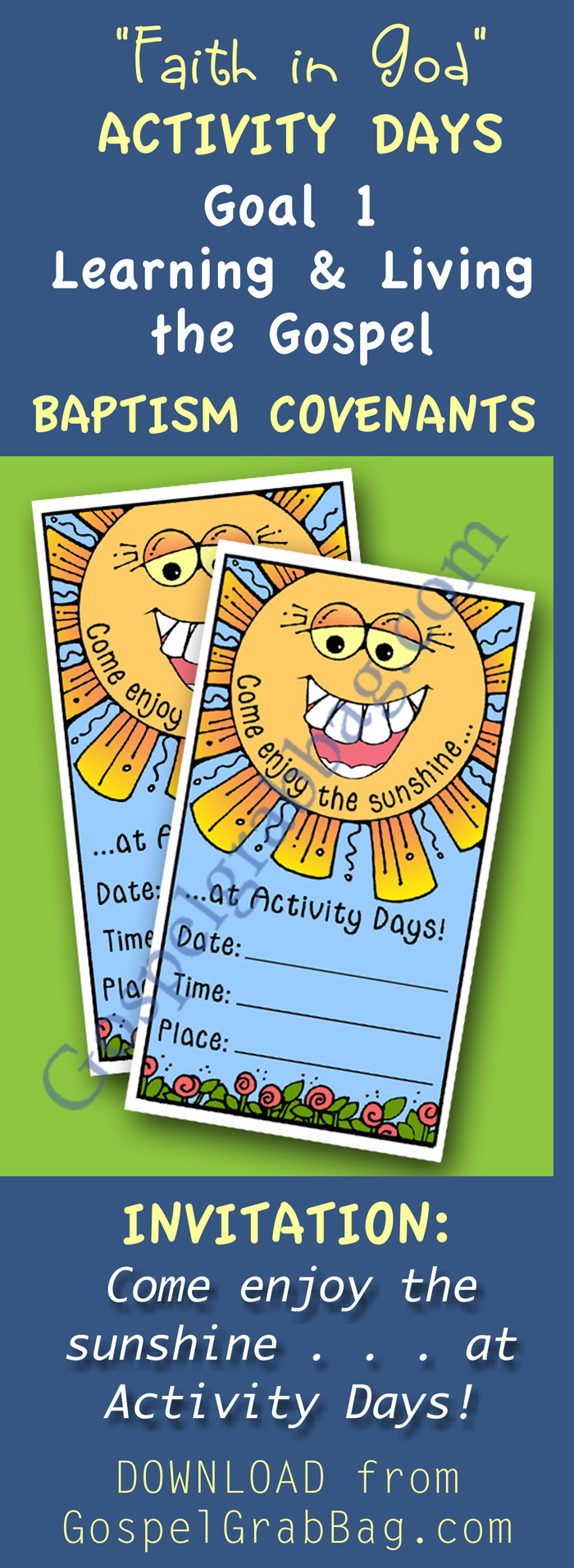 Invite Activity Days girls to this activity using invitation. Other ...