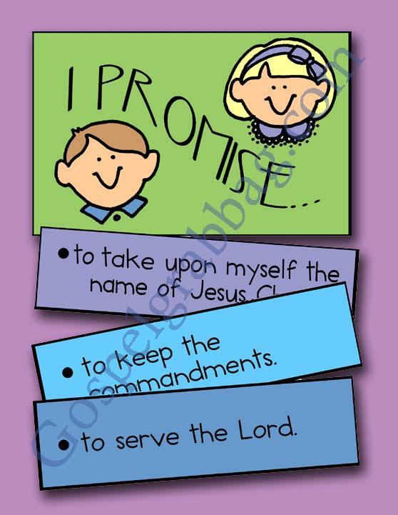 Baptismal Covenant, Primary Lesson Helps, Primary 3 CTR-B, Lesson 13