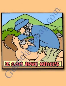 LOVE OTHERS: Sunbeam Lesson 34, I Can Love Others, Sunday Savers book or CD-ROM, gospelgrabbag.com, Primary Lesson Helps, Primary 1 manual, good samaritan