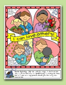 LOVE OTHERS: Primary Nursery Lesson 18 - I Will Love Others, Sunbeam Lesson 34 - I Can Love Others, Sunday Savers book or CD-ROM, gospelgrabbag.com, Primary Lesson Helps, Behold Your Little Ones, Primary 1 manual