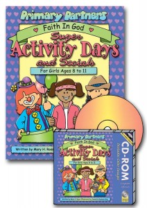 Super Activity Days and Socials book or CD-ROM, for girls ages 8-11, recognition activities, mother - daddy daughter dates, gospelgrabbag.com