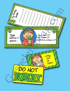 "$0.50 - Tithing - Saving Money: LDS Lesson Activity - Money Mottos to place in wallet - ""Why do we pay tithing?"", gospelgrabbag.com, YW2.46"