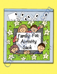 "$0.50 - Family Activities: LDS Lesson Activity - Family Fun Activity Sack - ""How can I strengthen my family?"" Come Follow Me, gospelgrabbag.com, YW3.10"