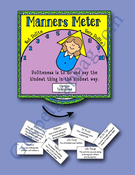 $1.50 MANNERS: LDS Activity Days – Serving Others - Goal 6, practice good manners and courtesy, family home evening, gospelgrabbag.com