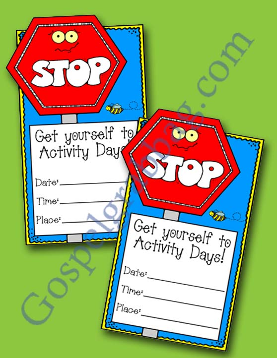 lds activity days invitations | just b.CAUSE
