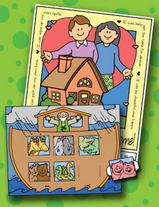 Sunday Savers preview - book covers – Sunbeam – Primary Manual 1 activities (2 activities per lesson - craft and 1 coloring poster), gospelgrabbag.com