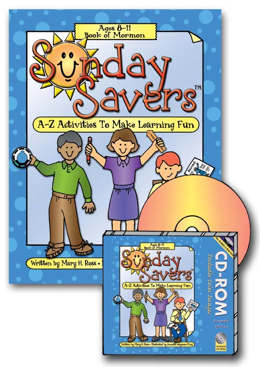 Book / CD-ROM, Sunday Savers Book of Mormon, Lesson-match activities, Primary Manual 4, gospelgrabbag.com