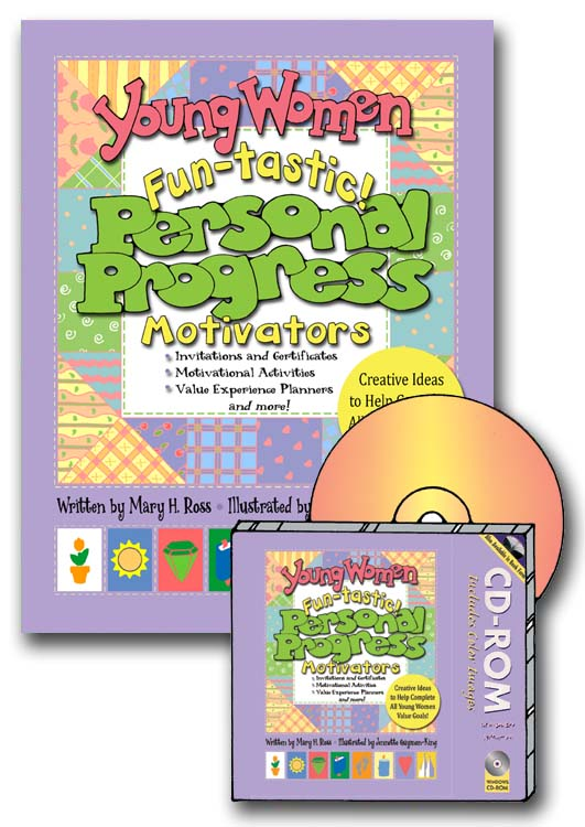 PERSONAL PROGRESS: Young Women Fun-tastic! Personal Progress Motivators book and CD-ROM
