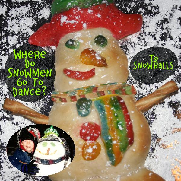 Seasonal Surprises: Breaded Snowman, Paint with Food-coloring, Bake and Eat, gospelgrabbag.com