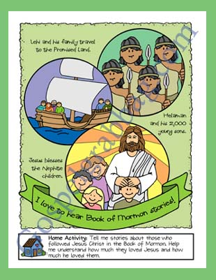 BOOK OF MORMON Primary Nursery Lesson 22 The Book Of Mormon Teaches Me About