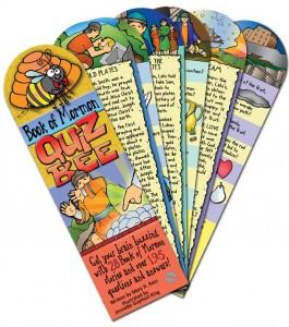 $7.99 - BOOK OF MORMON QUIZ-BEE: 28 Book of Mormon stories, 195 questions and answers, fan-deck, gospelgrabbag.com