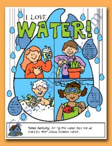 BAPTISM: Primary Nursery Lesson 26 - I Will Be Baptized and Confirmed, Sunbeam Lesson 9 - I Am Thankful for Water, Sunday Savers book or CD-ROM, gospelgrabbag.com, Primary Lesson Helps, Behold Your Little Ones, Primary 1 manual