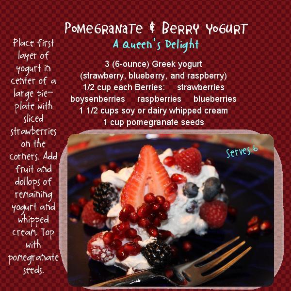 Winter Recipes: Pomegranate and Berry Yogurt, gospelgrabbag.com, quotequeenquotes.com