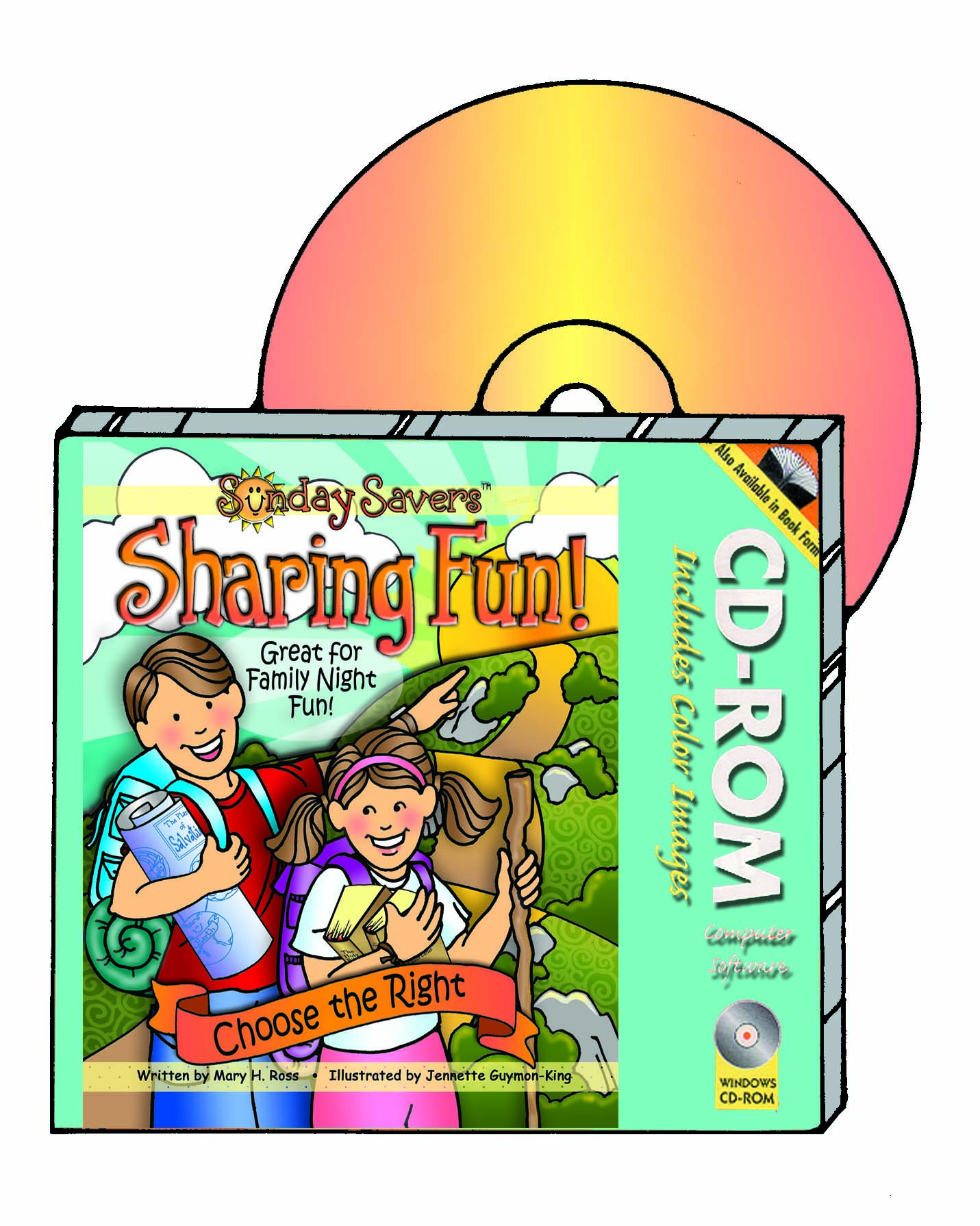 SHARING TIME 2017 Sunday Savers Sharing Fun: Choose the Right CD-ROM to print activiteis for Primary Sharing Time in color or black and white, gospelgrabbag.com