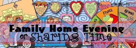 HEADER: Family Home Evening - Sharing Time, GospelGrabBag.com