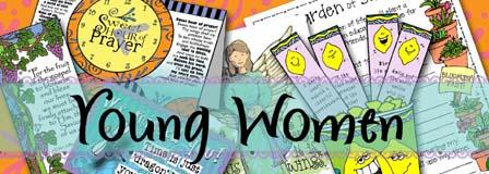 HEADER: Young Women - Come, Follow Me, GospelGrabBag.com