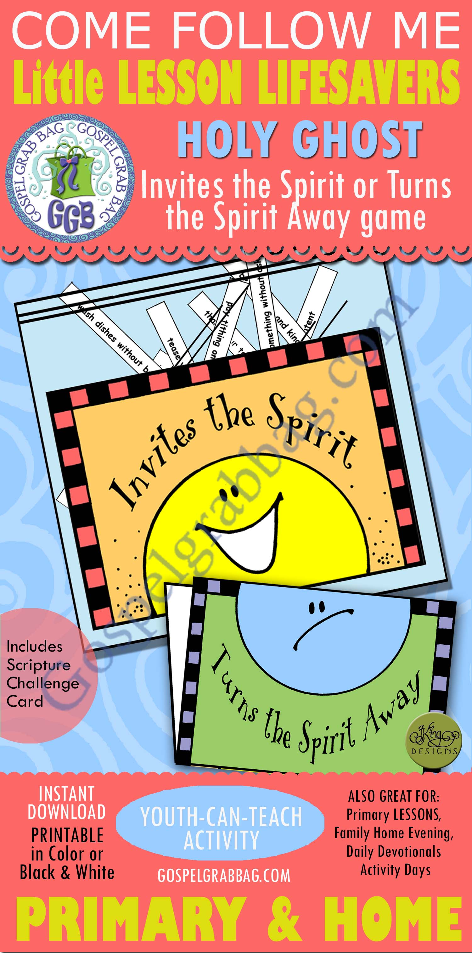 Holy Ghost Book Of Mormon Activity Invite The Spirit Game For