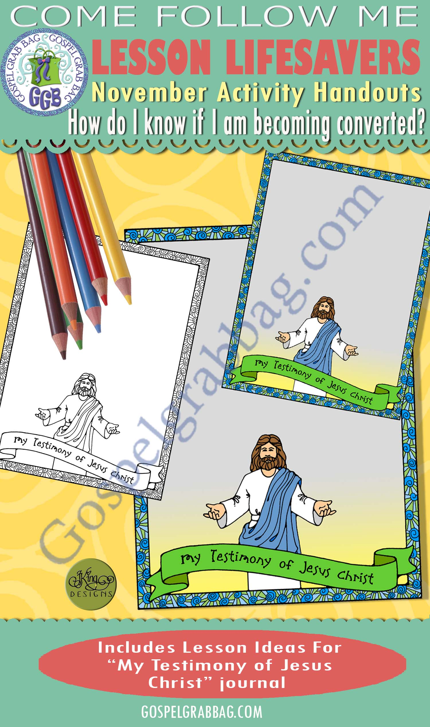 $1.75 ACTIVITY: My Testimony of Jesus journal