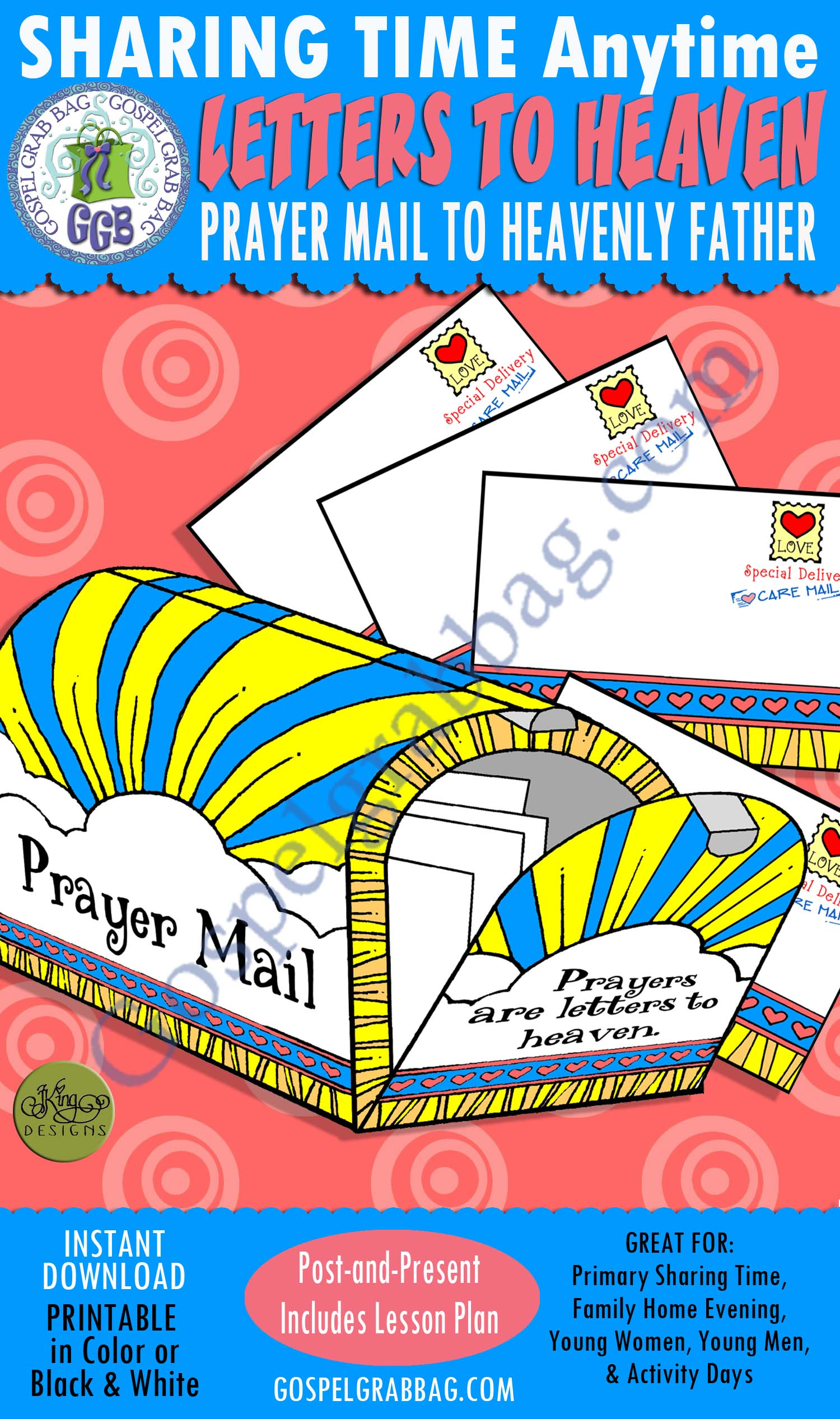 $3.50 PRIMARY SHARING TIME Activity: Letters to Heaven Prayer Mail