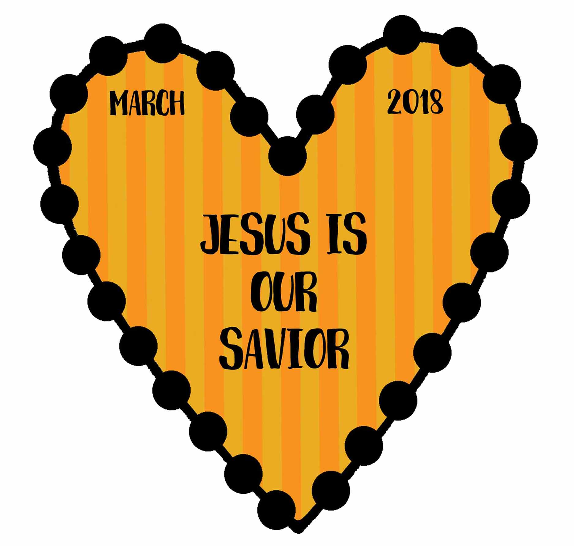 "2018 Sharing Time Theme - MARCH ""Jesus Christ Is Our Savior."""
