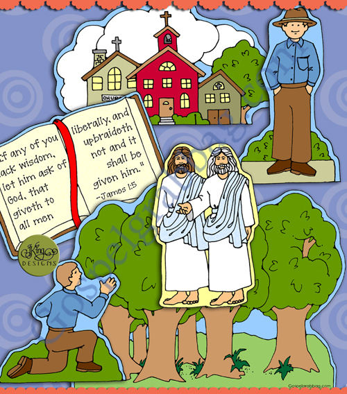 """$3.50 December Sharing Time """"Joseph Smith Saw and Testified of Jesus Christ"""" Post-and-Present"""