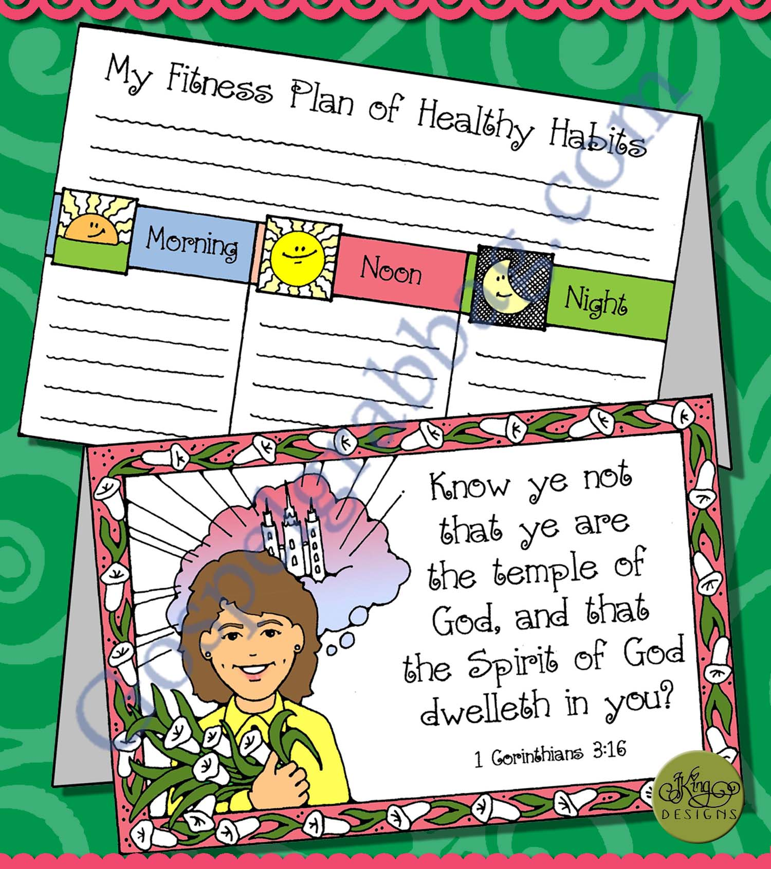 BODY IS A TEMPLE: LDS Lesson Activity - My Body is a Temple fitness ...