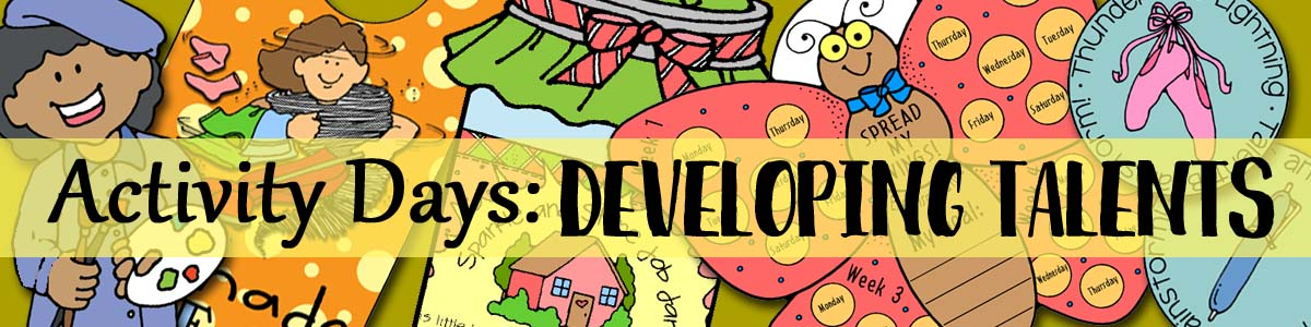 Activity Days - Developing Talents Goals 1-10