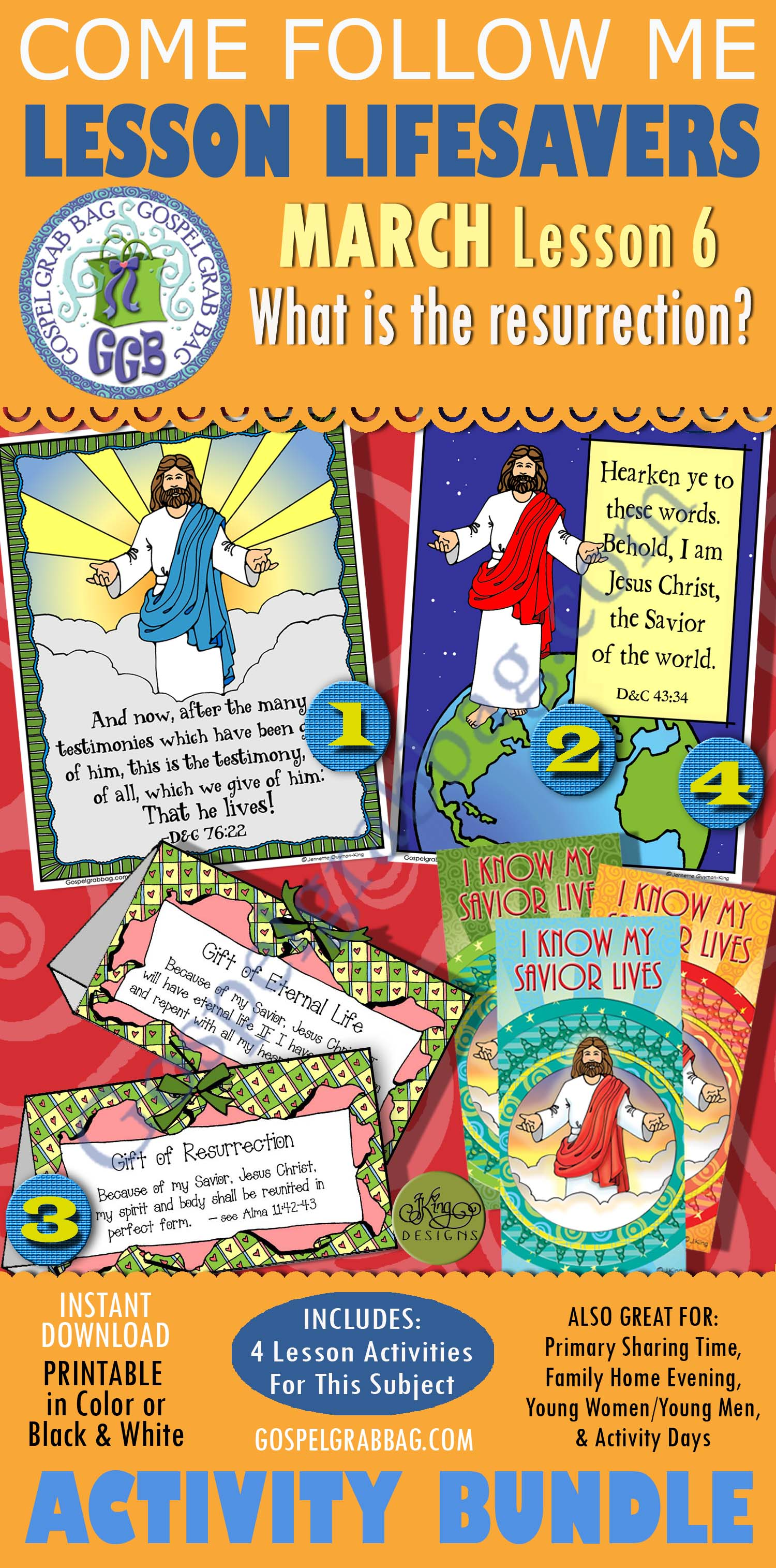 """$4.00 MARCH Lesson 6 - Come Follow Me """"What is the resurrection?"""""""