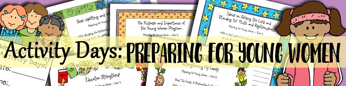 Activity Days - Preparing for Young Women - 5 Discussions with 5 Planner Forms