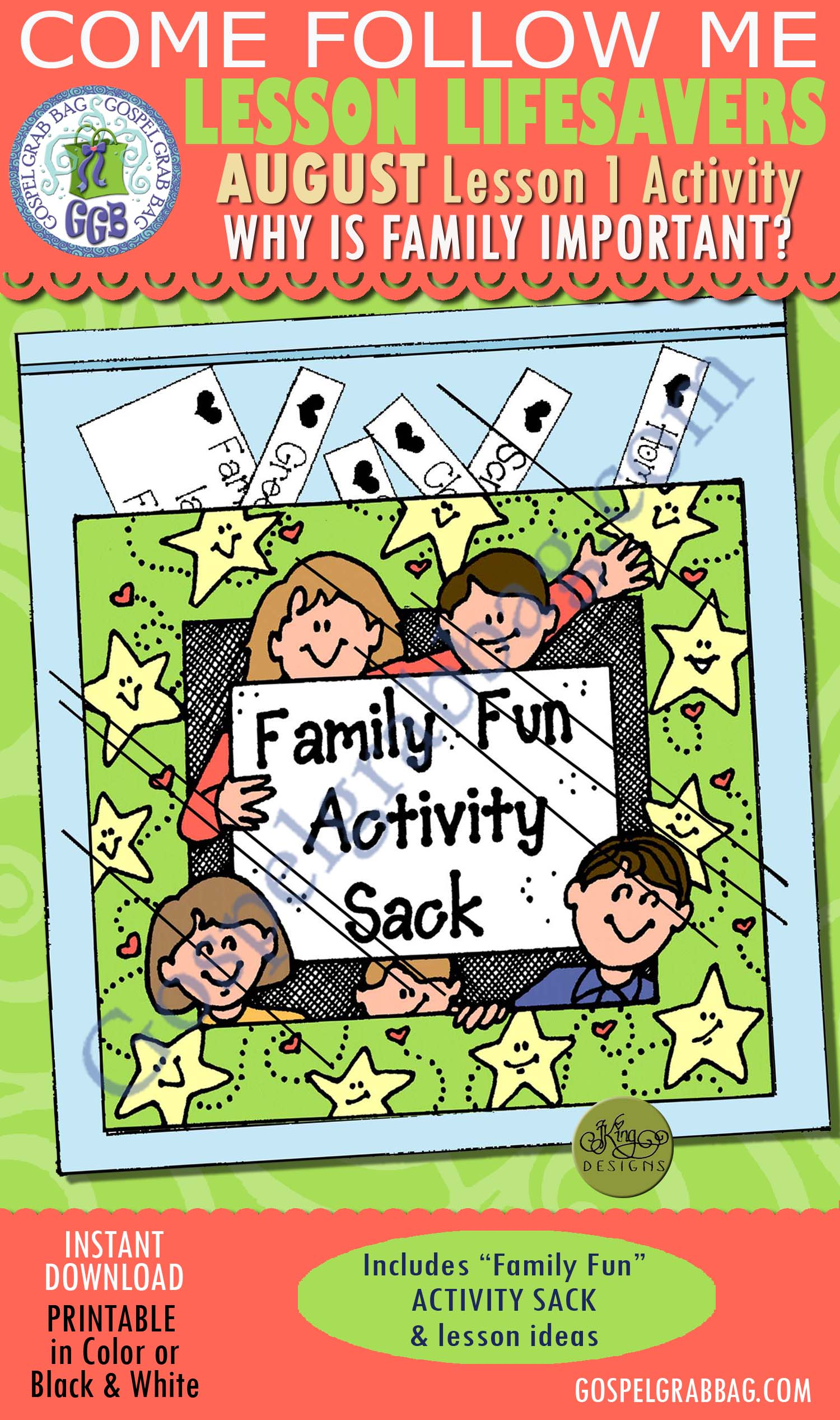 """AUGUST Lessons 1-4 """"Marriage and Family"""" Lesson Activities ..."""