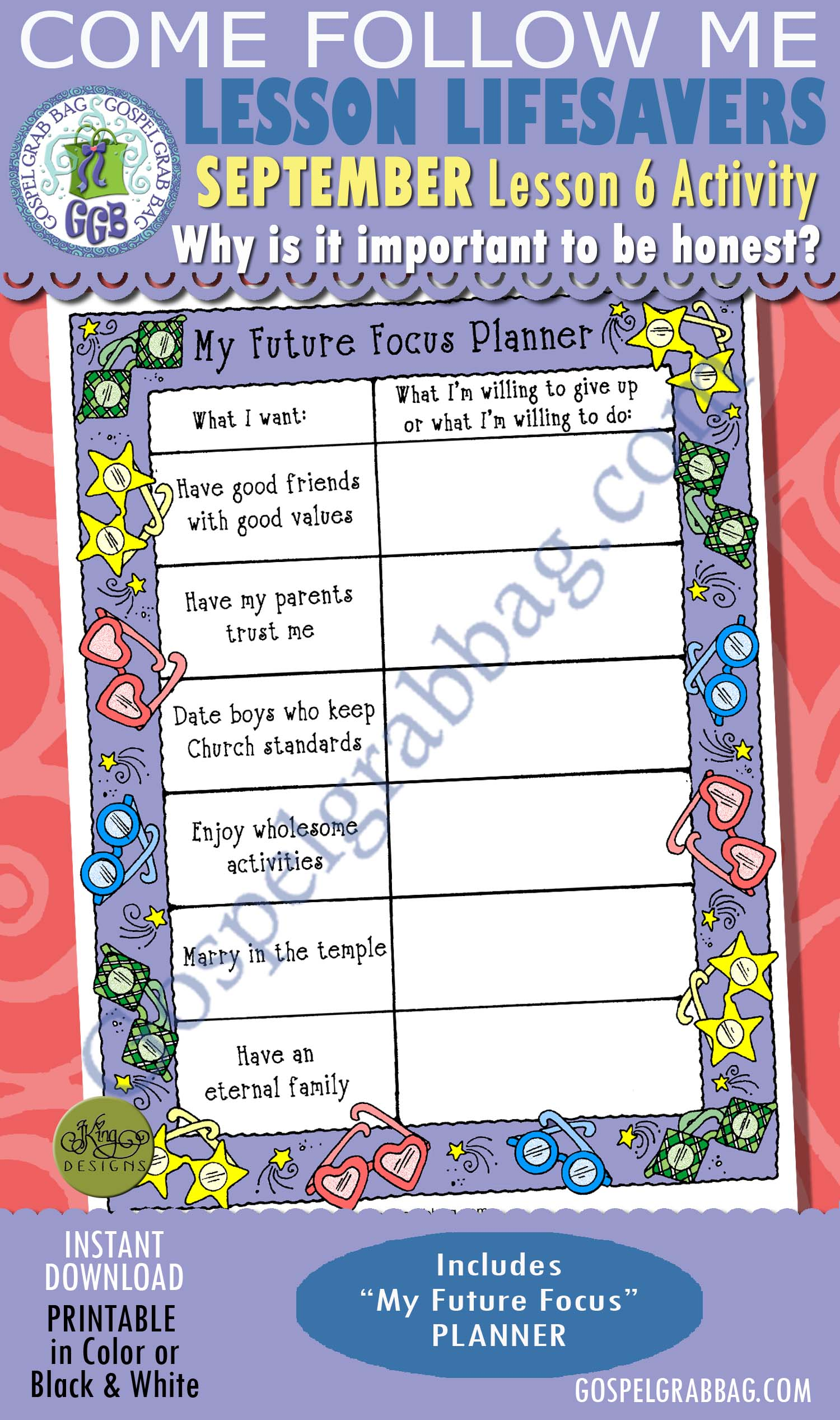 "SEPTEMBER Lessons 5-7 ""Commandments"" Lesson Activities & Planners ..."