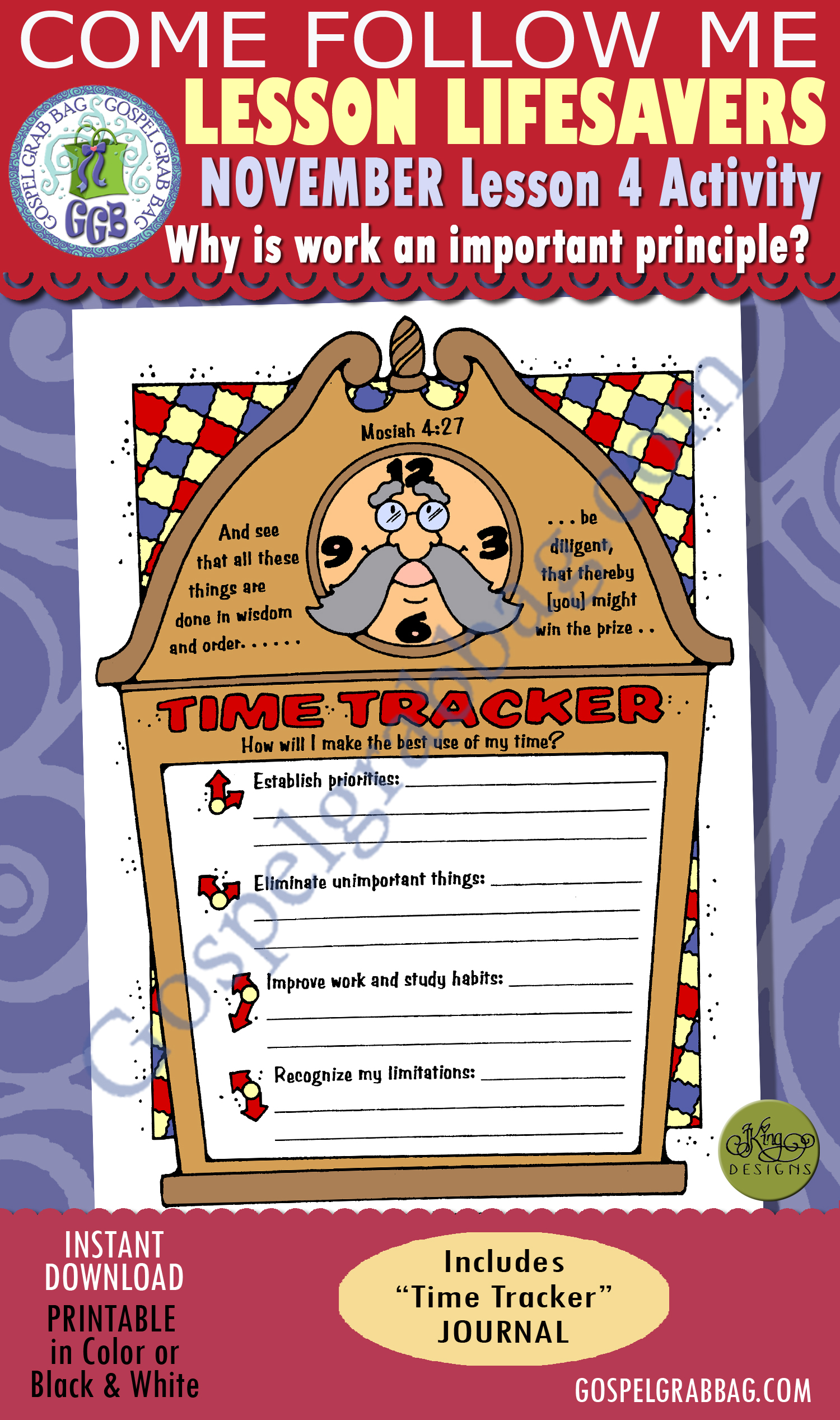Work - Time Management: LDS Lesson Activity: Time Tracker
