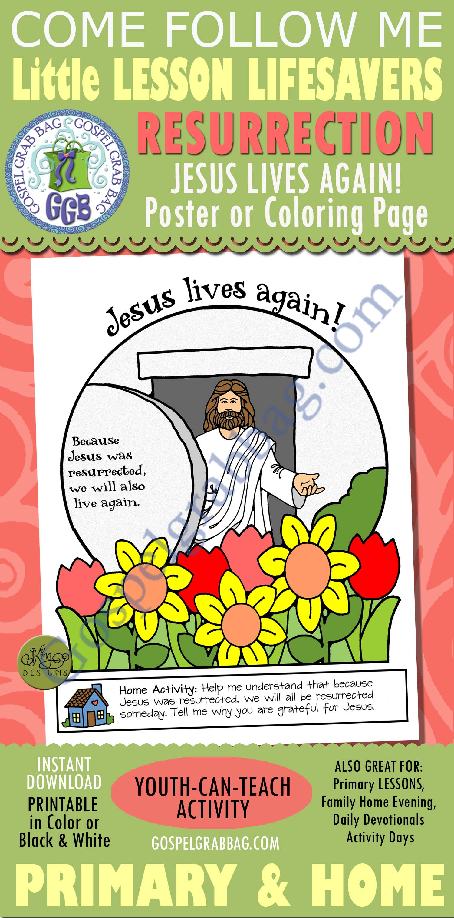 Resurrection: Primary Lesson Helps, Nursery Lesson 29 - Jesus Christ Was  Resurrected, Sunbeam Lesson 45 - The Resurrection of Jesus Christ - Gospel