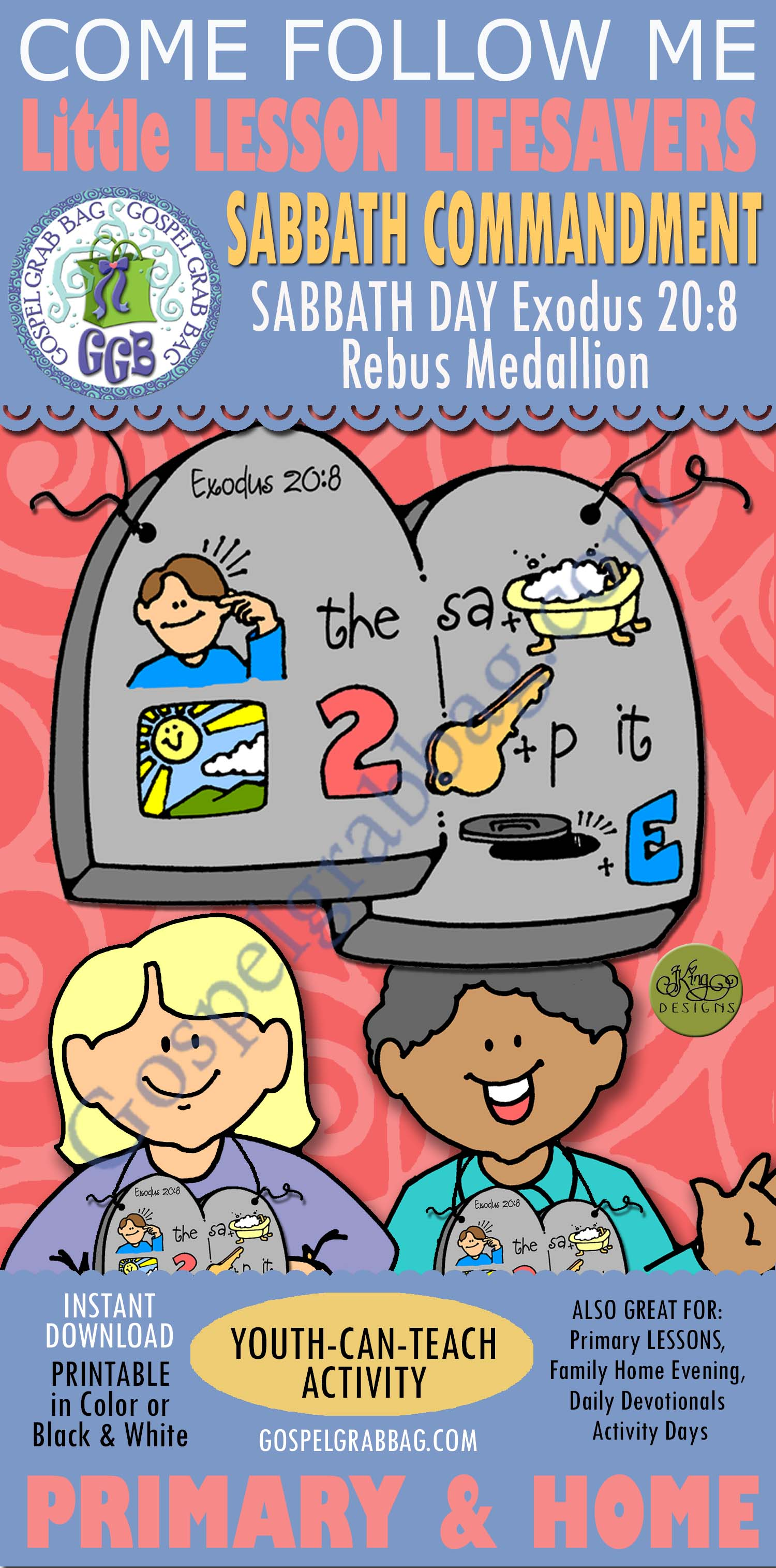 I Can Keep the Sabbath Day Holy, Primary Lesson Helps, Primary 2 CTR-A,  Lesson 37 - Gospel Grab Bag
